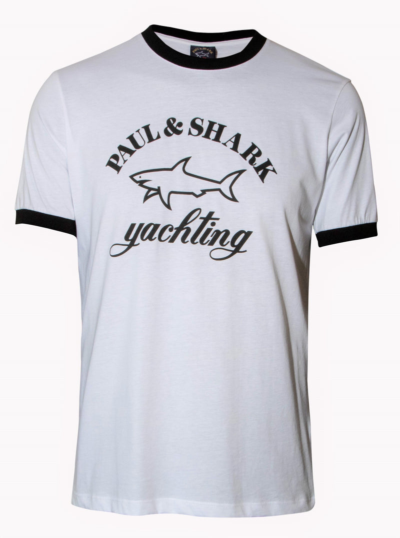 ORGANIC COTTON T-SHIRT WITH PAUL&SHARK LOGO