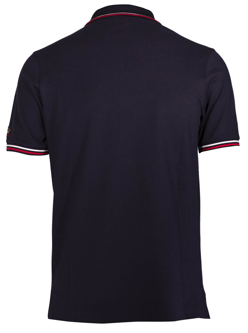 MARINE POLO SHIRT WITH EMBROIDERY