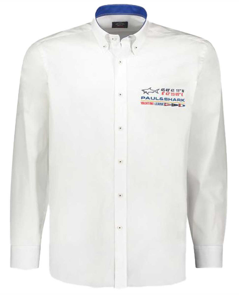 COTTON POPLIN SHIRT WITH NAUTICAL EMBROIDERY