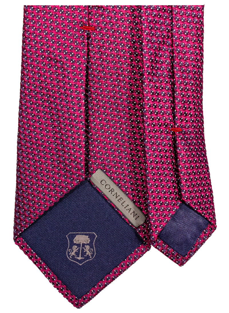 Men's Burgundy 8cm Silk-jacquard Tie