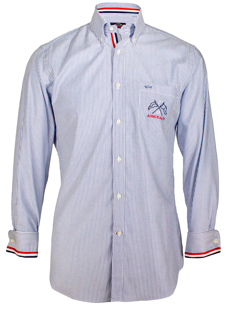 LONG SLEEVE STRIPED SHIRT WITH LOGO
