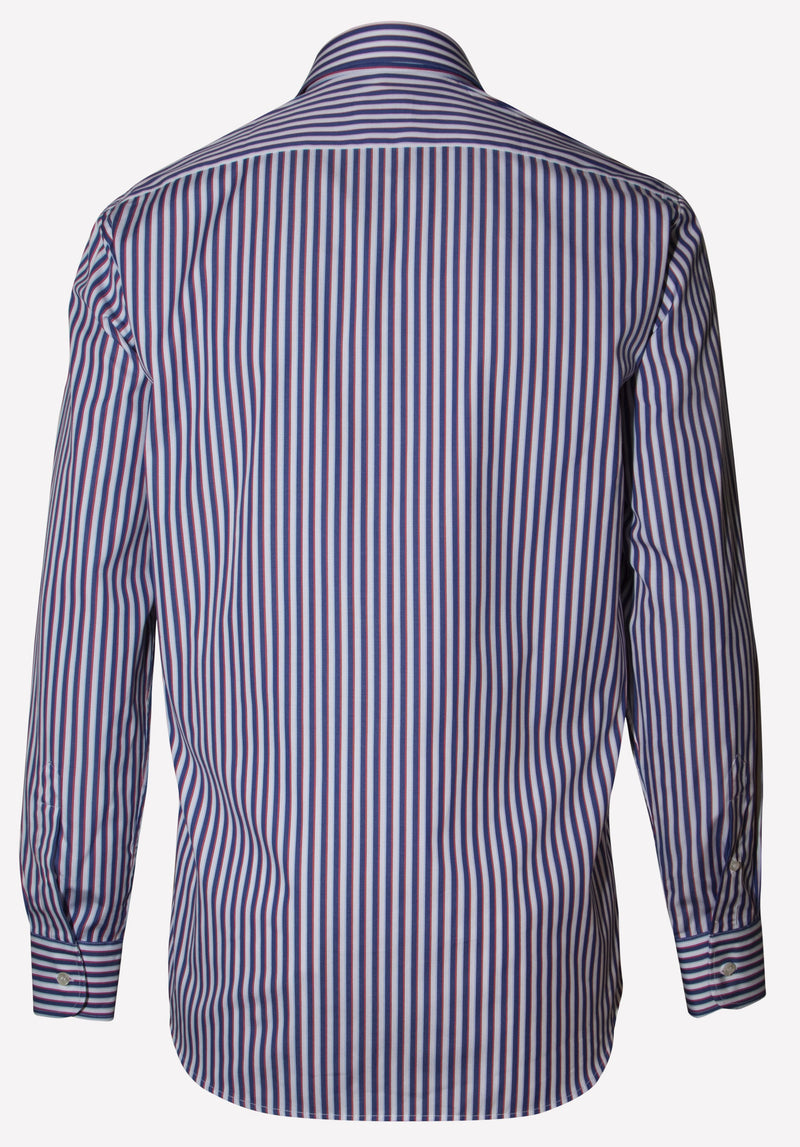 POPELINE COTTON STRIPED SHIRT