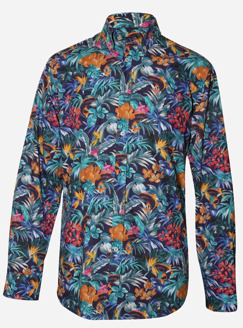 ORGANIC COTTON SHIRT WITH FLORAL PATTERN