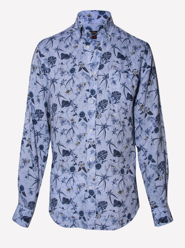 TROPICAL FLORAL-PRINT SHIRT