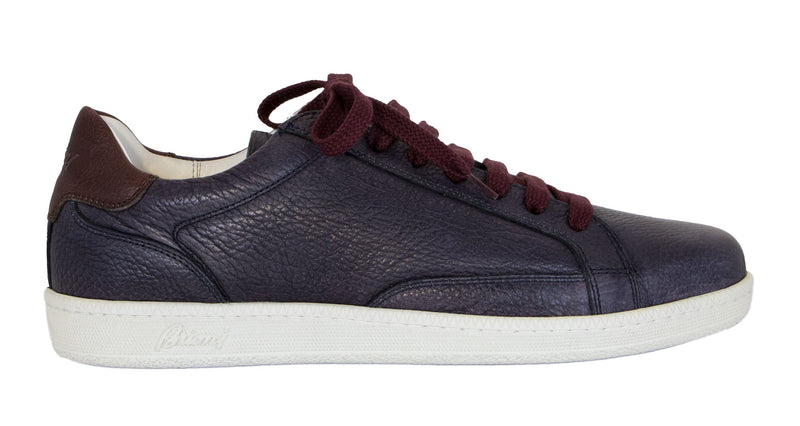 EMBOSSED LEATHER LOW TOP SNEAKERS