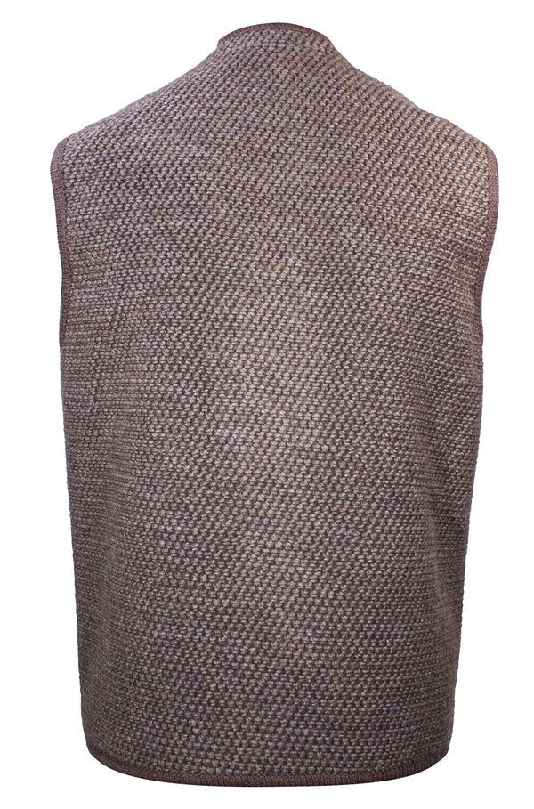 STEINBOCK COTTON AND WOOL BLEND TWEED GILET