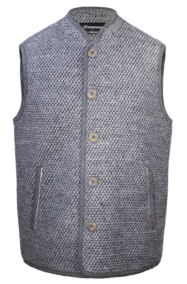 STEIEBOCK COTTON AND WOOL BLEND TWEED GILET