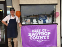 Ken Ladd from Kragh's Jewelry of Bastrop, TX. Pictured here after winning the Best of Bastrop County award in 2018