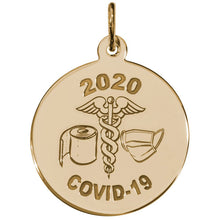 Load image into Gallery viewer, Covid-19 T-Paper & Mask Caduceus Charm Style 7540