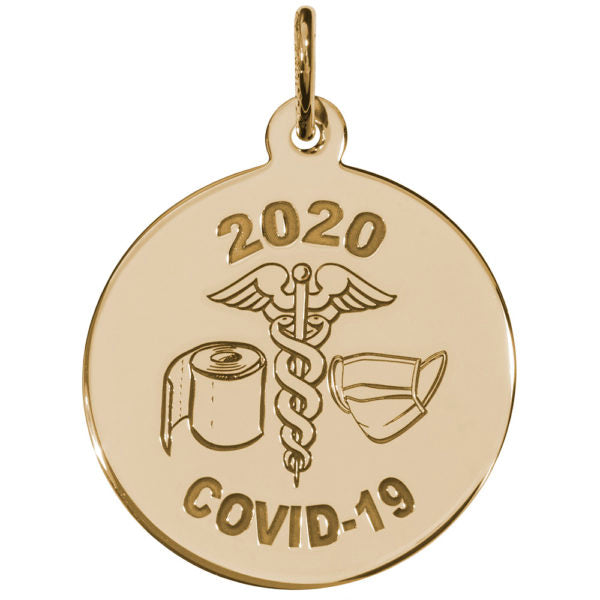 Covid-19 T-Paper & Mask Caduceus Charm Style 7540