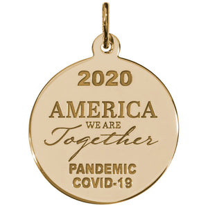 Covid-19 America We Are Together Charm Style 7549