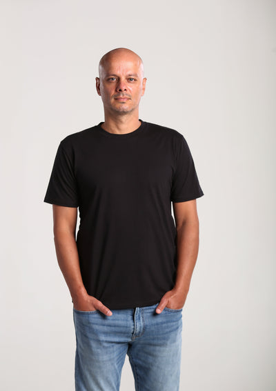 Mens 100% Organic Cotton T-shirt - Black
