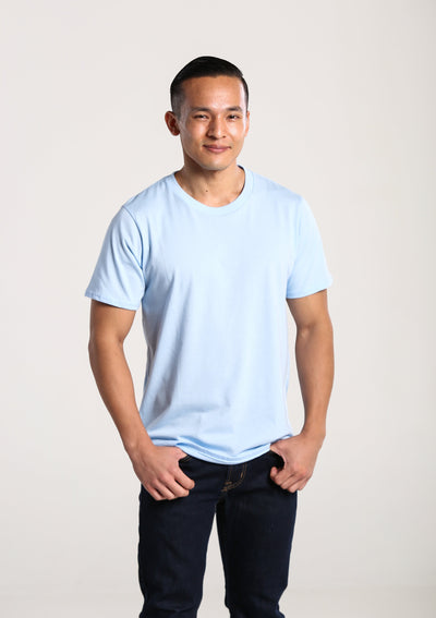 Men's 100% Organic Cotton T-Shirt - Sky Blue