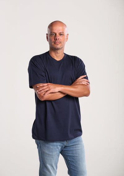 Mens 100% Organic Cotton T-shirt - Navy
