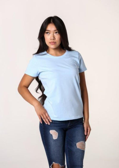 Women's 100% Organic Cotton T-Shirt - Sky Blue