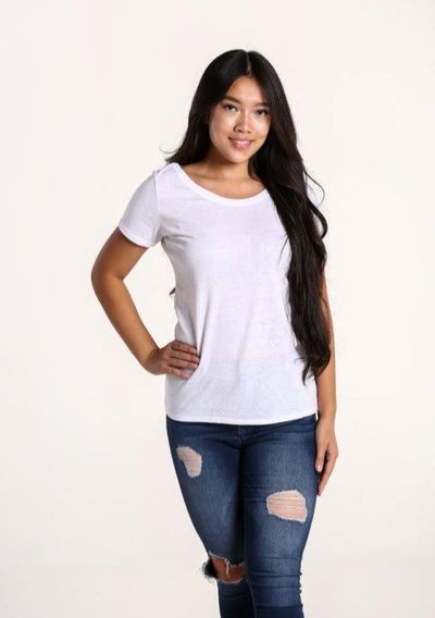 Women's Sustainable Scoop Neck T-Shirt - White