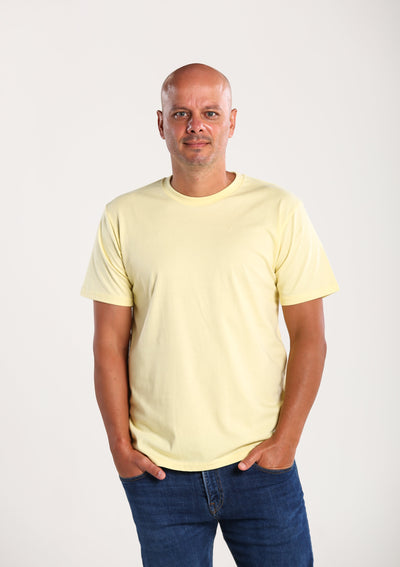Men's 100% Organic Cotton T-shirt - Yellow