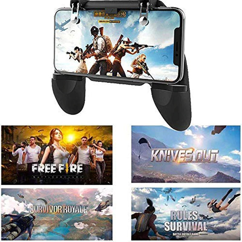 Mobile Game Controller for PUBG Mobile Controller L1R1 Mobile Game Trigger Joystick Gamepad for 4-6.5