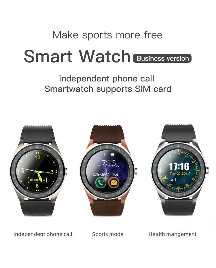 V5 Android Smart Watch Touchscreen With SIM, TF Card Slot Pedometer Sedentary Prompt Sleep Monitoring Watches for Android iOS
