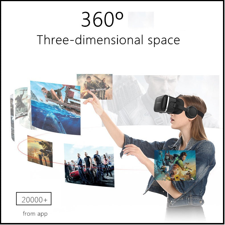 3d VR Glasses Headset With Earphones 6 Generations