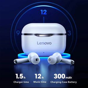 Original Lenovo Livepods LP1 5.0 Bluetooth Earphones Earbuds Headset Dual Stereo Noise Cancelling Bass Touch Control Type-C Charging