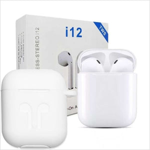 Twin I12 With Sensors Touch And Window Wireless Earphone V5.0 With Pouch