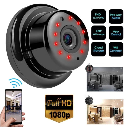 Ir Mini Wifi Camera V380 App 1080p Hd