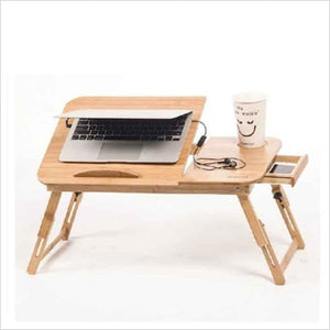 Wooden Laptop Table With Fan