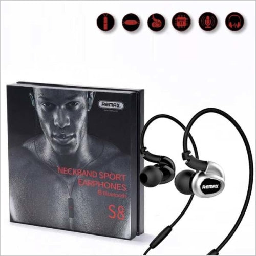 Remax S8 Neckband Sport Earphones Bluetooth Handsfree
