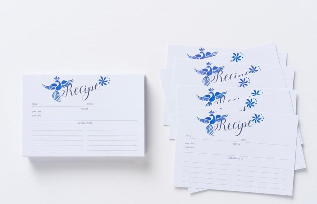 Otomi Blue Recipe Cards Refill Set
