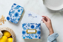 Load image into Gallery viewer, Otomi Blue Recipe Cards Refill Set