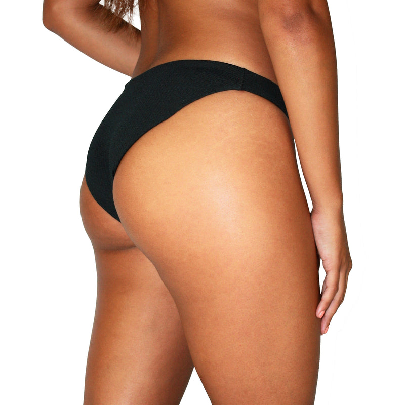 PALM SPRINGS BOTTOMS - RIBBED LOW-RISE MEDIUM COVERAGE BIKINI BOTTOM