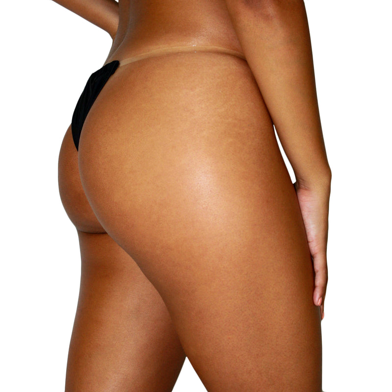 SEA THRU ME BOTTOM - CLEAR STRAP MINIMAL COVERAGE BIKINI BOTTOM