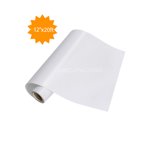 "Adhesive Vinyl Roll - White Permanent 12"" x 20 Ft"