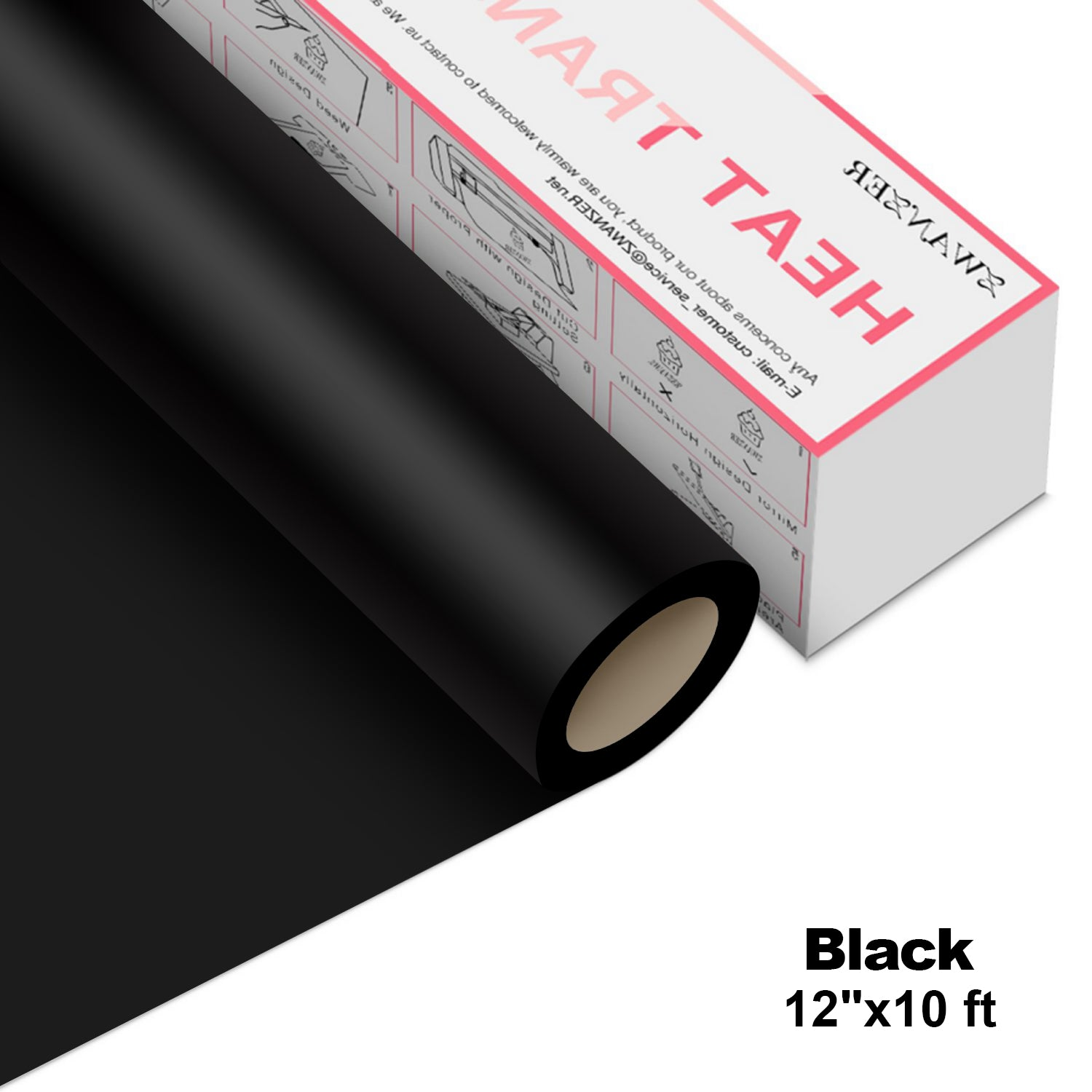 "【BEST PRICE & 10% OFF $49 FOR ALL】HTV Vinyl/Heat Transfer Vinyl Roll 12""x10 ft"