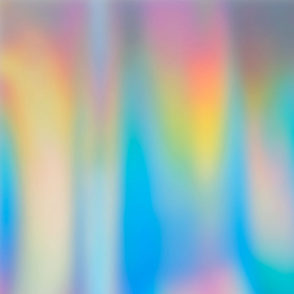 "Holographic Adhesive Vinyl Roll - White 12"" x 5 Ft"