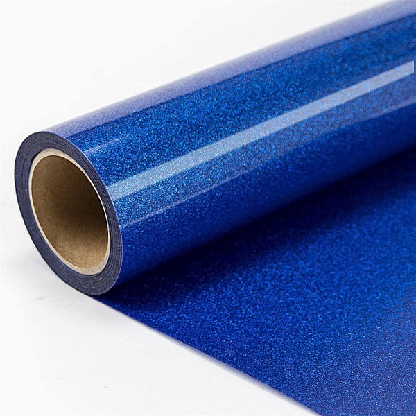 JANDJPACKAGING Glitter Heat Transfer Vinyl Roll - 10in x 10ft