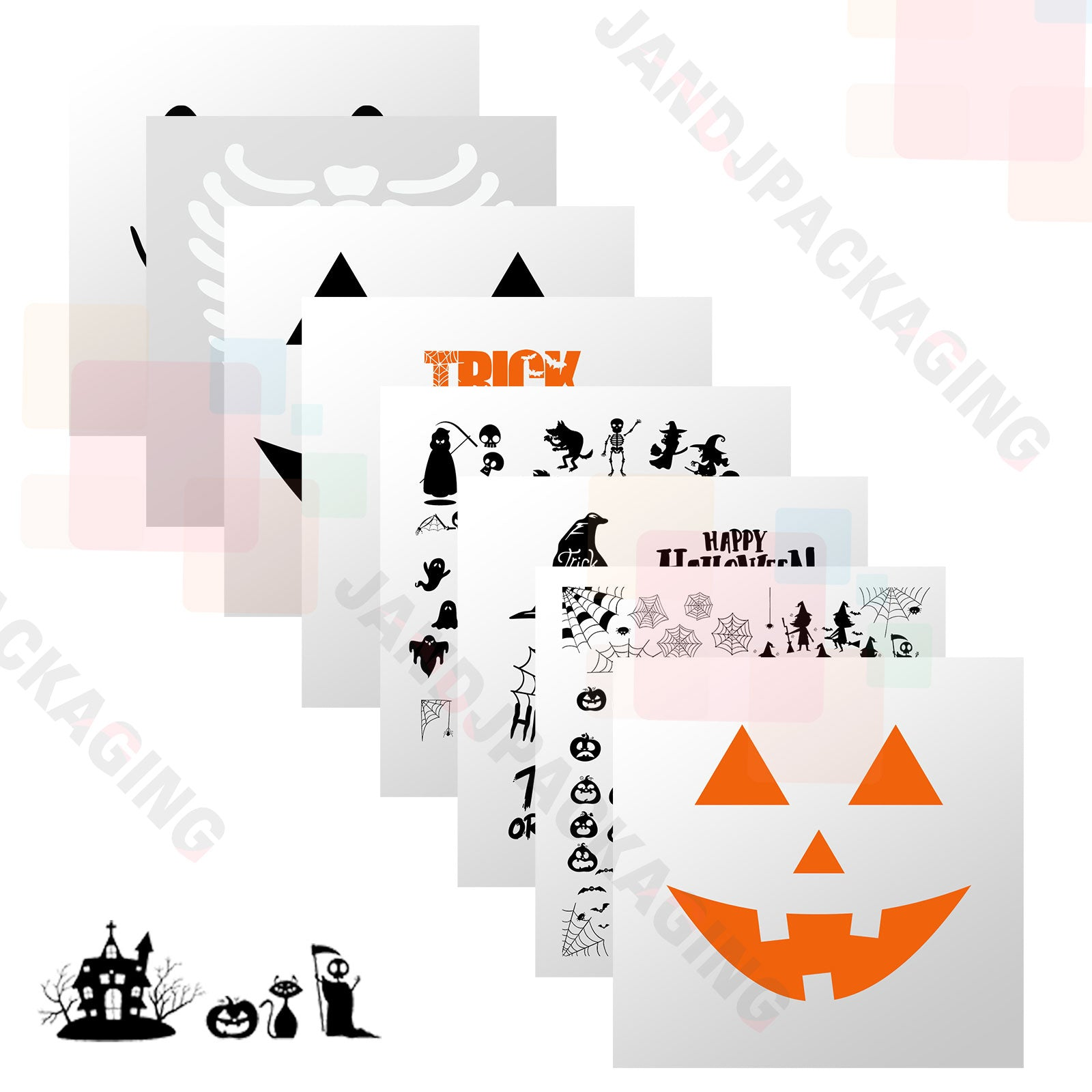 Halloween HTV Vinyl Bundle / Iron On Vinyl 8 sheets