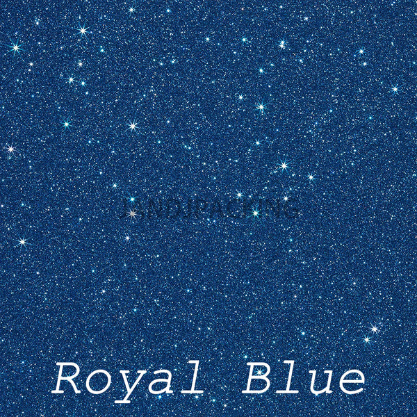 glitter vinyl royal blue