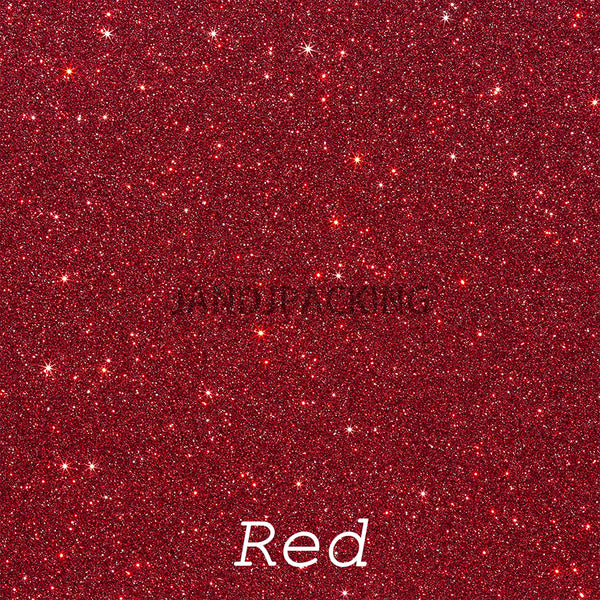 glitter htv black red