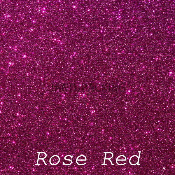 glitter htv rose red