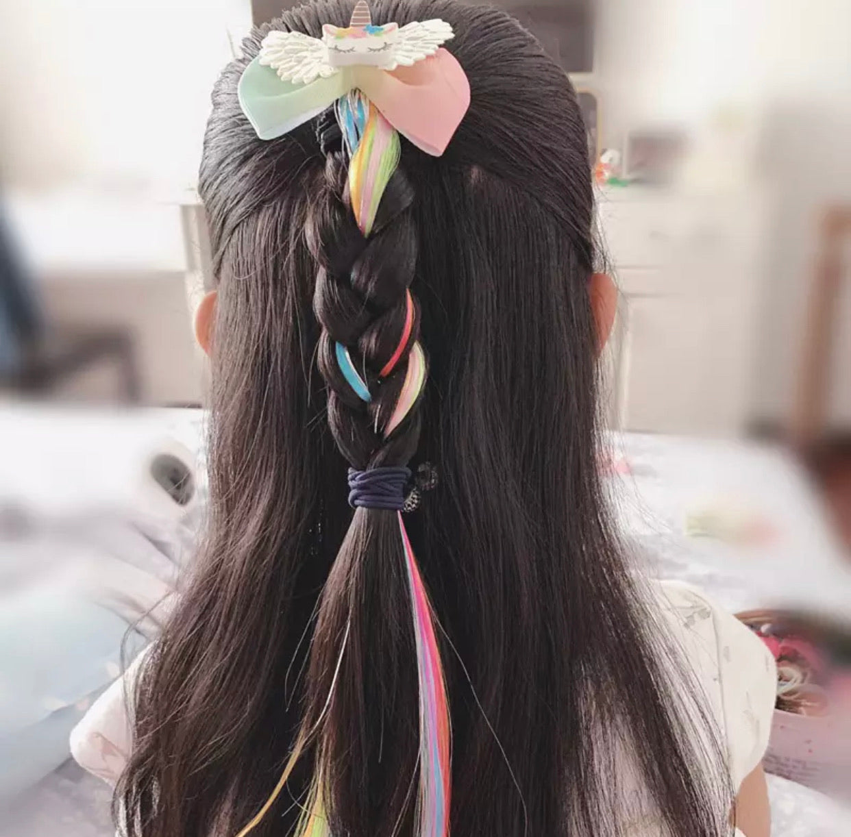 Unicorn/rainbow extensions voor kids