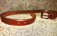 Load image into Gallery viewer, Custom Engraved Leather Belt - Weaver Custom Engravings