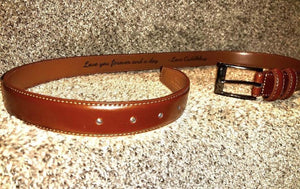 Custom Engraved Leather Belt - Weaver Custom Engravings
