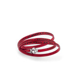 LEATHER BRACELET WITH AVE MARIA (ITALIAN) (6540675121308)
