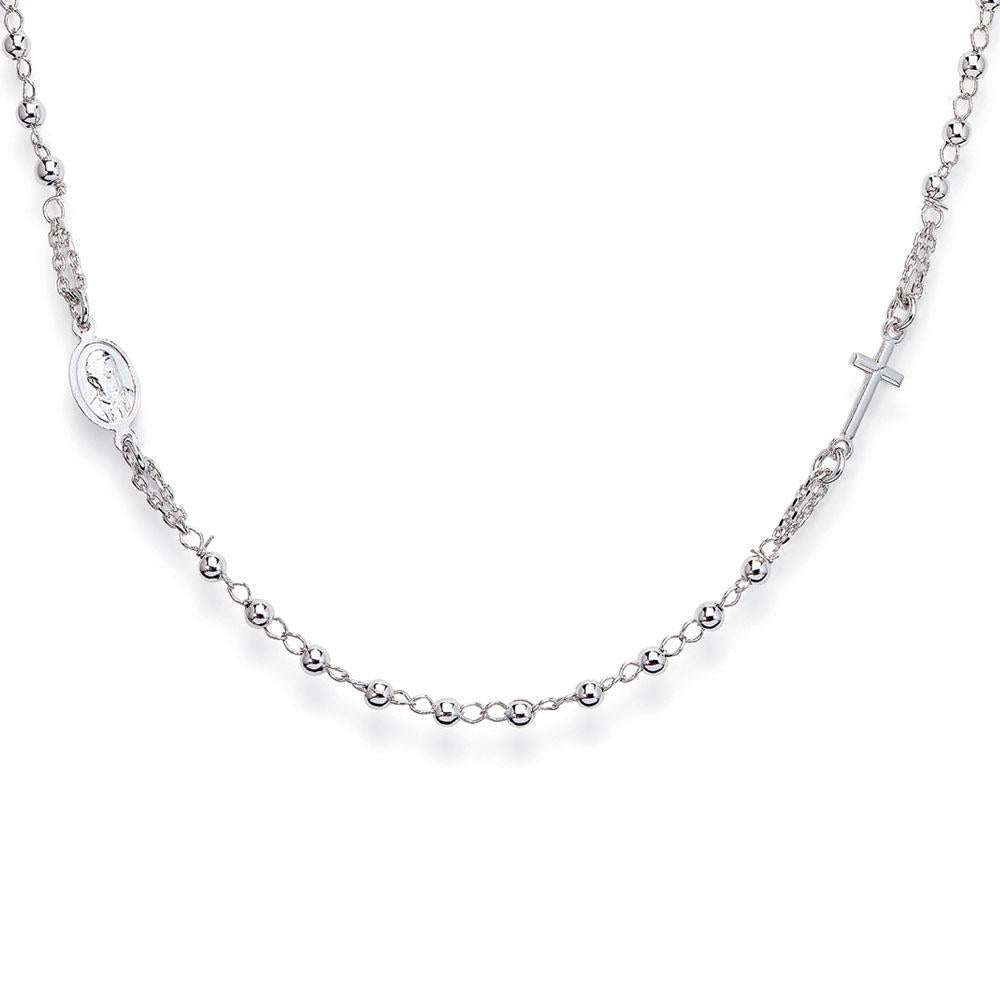 925 SILVER NECKLACE ROSARY (6143412404380)