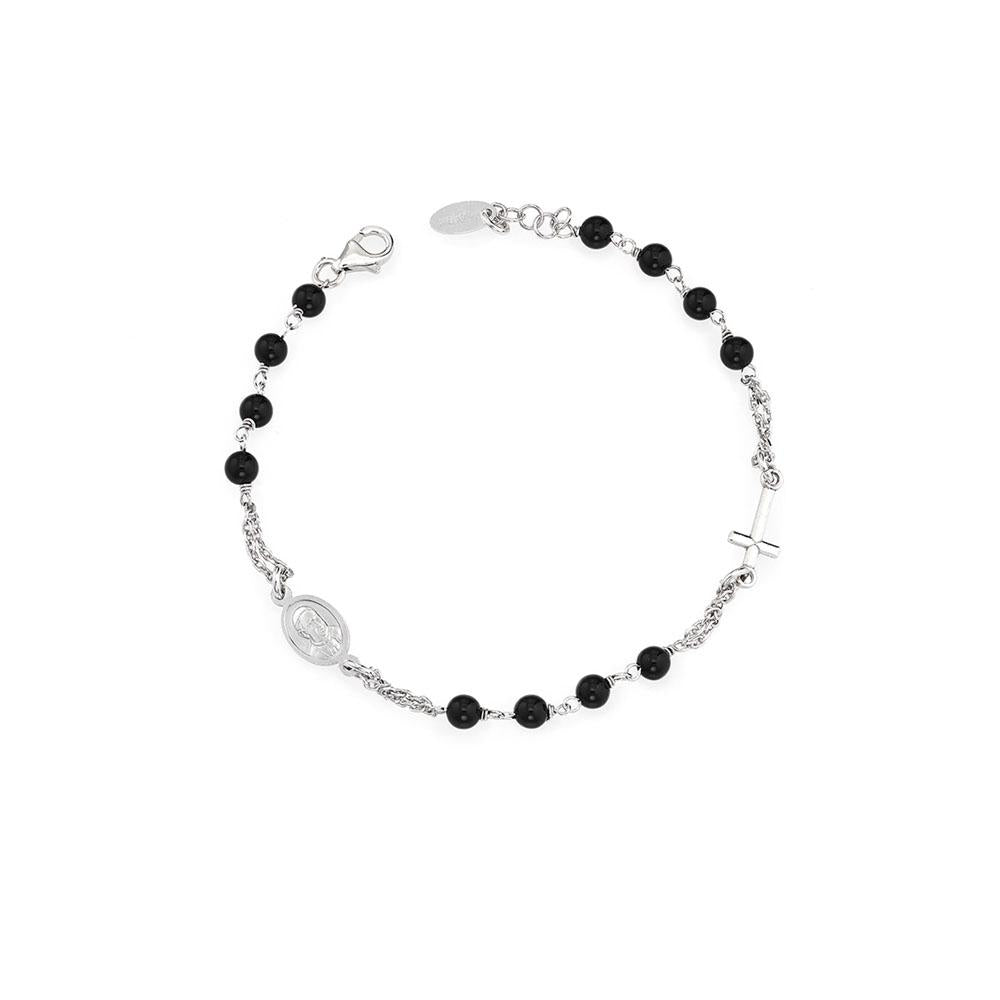 925 SILVER BRACELET ROSARY WITH CRYSTALS (6143430557852)