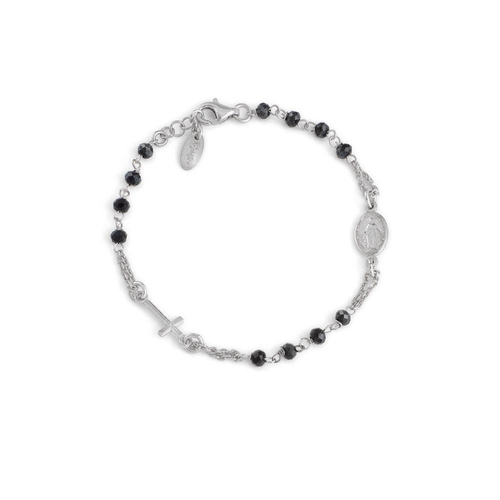 925 SILVER BRACELET ROSARY WITH CRYSTALS (6143431180444)