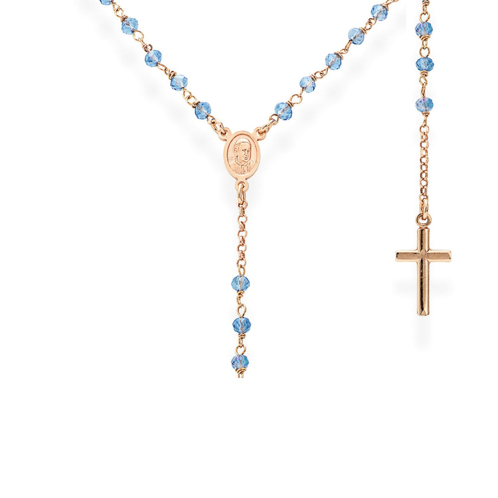 925 SILVER NECKLACE CLASSIC ROSARY WITH CRYSTALS (6143426756764)