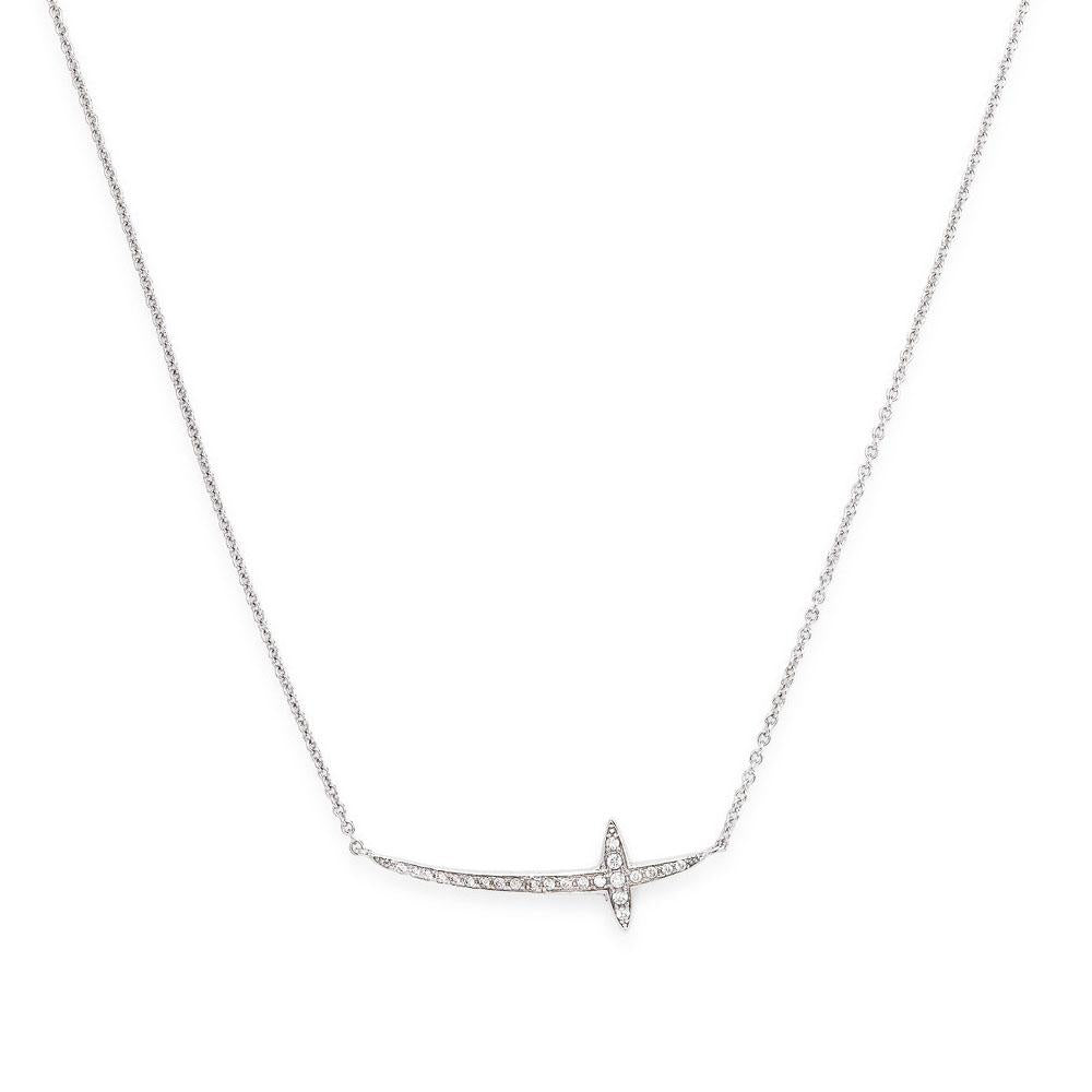 925 SILVER NECKLACE CROSS WITH STONES (6143412240540)